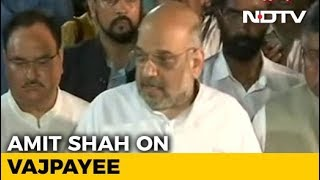 """India Has Lost The Pole Star Of Indian Politics"": Amit Shah - NDTV"
