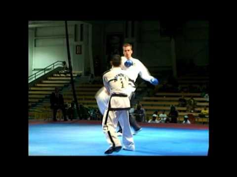 Knockout Spinning Jump kick - ITF Taekwon-Do - Carl van Roon