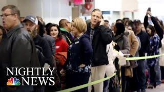 TSA Callouts Reach Record High As Government Shutdown Hits 31st Day | NBC Nightly News - NBCNEWS
