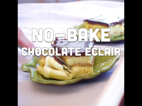 How to Make No Bake Chocolate Eclair Dessert
