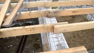 перекрытие первого этажа балками, Армопояс (поясок для сна) (день 2)