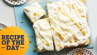 Rolo-Stuffed Banana Poke Cake | Food Network - FOODNETWORKTV