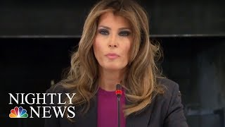 Melania Trump Addresses Critics At Cyberbullying Summit | NBC Nightly News - NBCNEWS