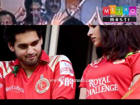 Siddharth Mallaya kisses (lip lock) Deepika Padukone as RCB wins