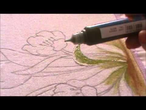 Pintura em Pano de Copa com a tinta Pinta Tecido.wmv