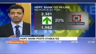 Earnings Edge: HDFC Bank Posts Stable Q2 - BLOOMBERGUTV