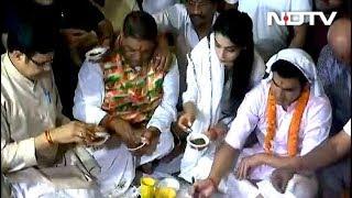 गौतम गंभीर ने नामांकन से पहले किया पूजा-पाठ, शीला दीक्षित को जीत को उम्मीद - NDTVINDIA