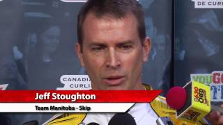 Playoff 1 vs 2 Media Scrum - 2013 Tim Hortons Brier