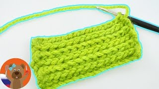 Учимся вязать в третью петлю крючком | ОЧЕНЬ похоже на вязание на спицах!!! | Мастер-класс