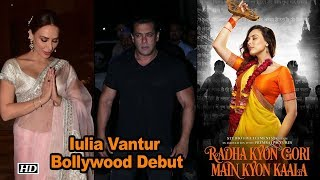 Salman's rumored Girlfriend Iulia's Bollywood Debut First Look Out - IANSLIVE