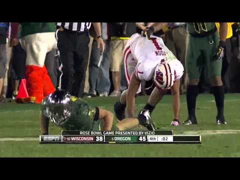 Rose Bowl Game 2012 highlights. Oregon Ducks - Wisconsin Badgers