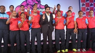 Abhishek Bachchan introduces 'Jaipur Pink Panthers' - BOLLYWOODCOUNTRY