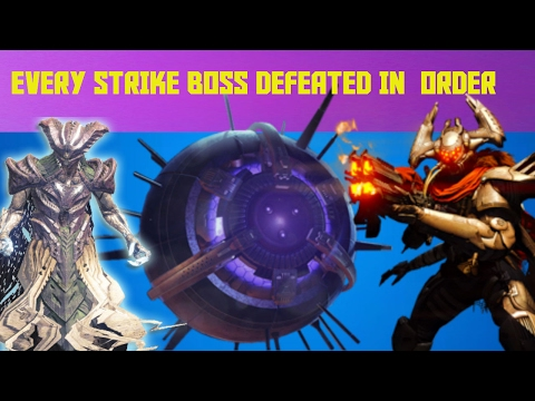 every strike boss being destroyed in order without dying