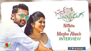 Nithiin and Megha Akash funny chit chat about Chal Mohan Ranga - IGTELUGU