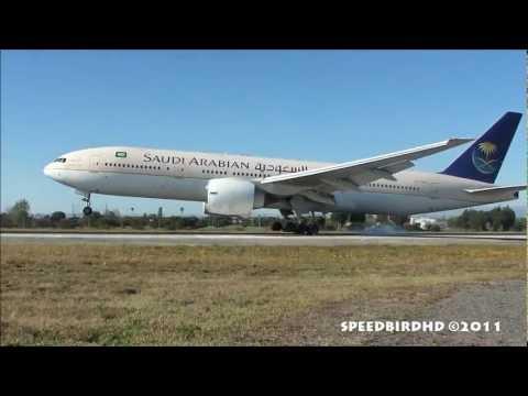 Saudi Arabian Airlines Boeing 777-268(ER) [HZ-AKE] Landing