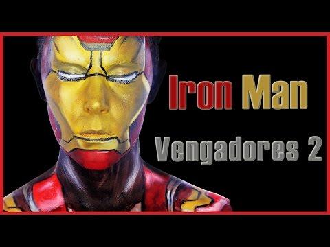 Maquillaje Iron Man en los Vengadores 2 Fantasía#47