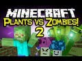 Minecraft PLANTS VS ZOMBIES 2 MOD Spotlight! - Let's Battle! (Minecraft Mod Showcase)