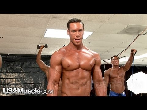 2012 NPC Junior Nationals Men's Physique Pump Room Part 2