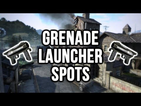 Black Ops 2: Standoff Grenade Launcher / Noob Tube Spots (Domination & Search and Destroy)
