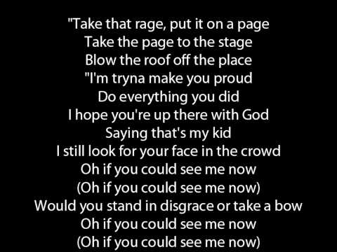 The Script If you could see me now lyrics