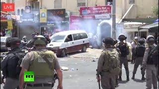 LIVE: Clashes between Palestinians and Israeli police in West Bank - RUSSIATODAY