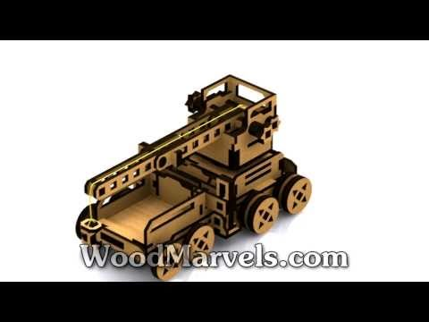 Mobile Crane B: 3D Assembly Animation (720HD)