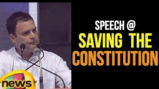 Rahul Gandhi Speech in launches Save The Constitution Campaign in New Delhi | Mango News - MANGONEWS