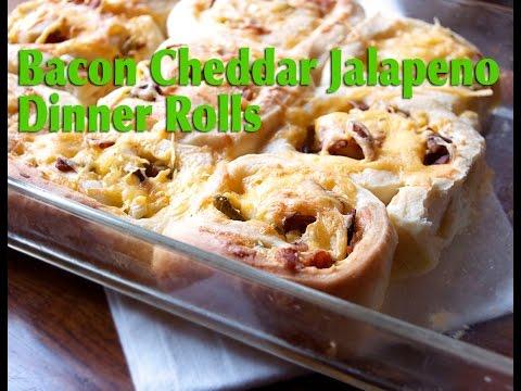 Bacon Cheddar Jalapeno Dinner Rolls