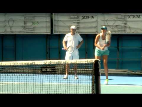 Maria Sharapova practice session: Australian Open 2012