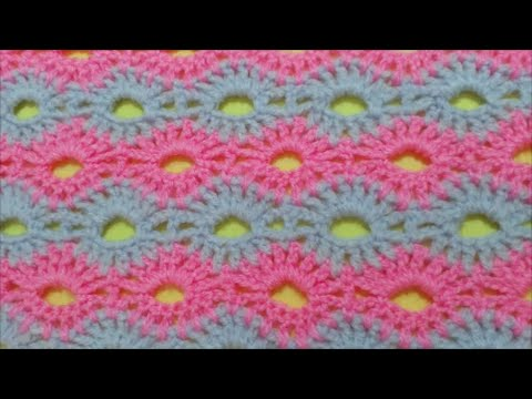 How to Crochet Road of flowers Stitch / Crochet Patterns # 2