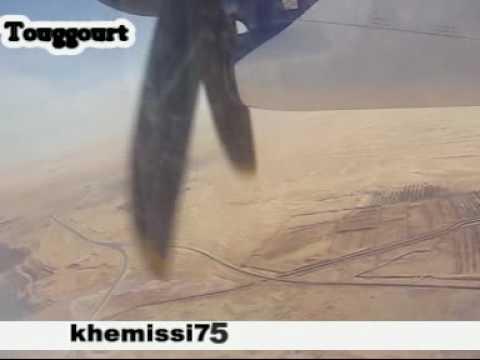 Touggourt: décollage de l'avion Tassili  تقرت:  إقلاع الطائرة من المطار