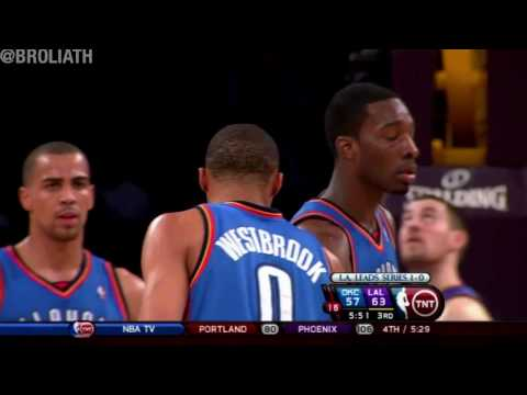 Russell Westbrook Dunks on Lakers