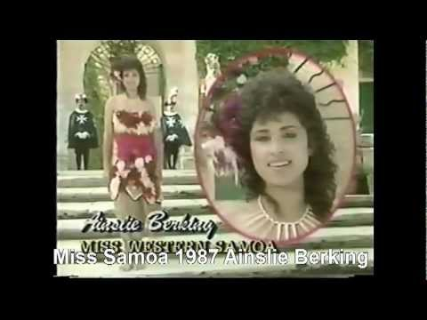 Miss Samoa at Miss World Pageants 1977 - 1988
