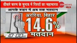 Lok Sabha polls: 14.6% polling till 10:00 am in Araria, Bihar - ZEENEWS