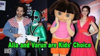 Alia and Varun are Kids' Choice - BOLLYWOODCOUNTRY