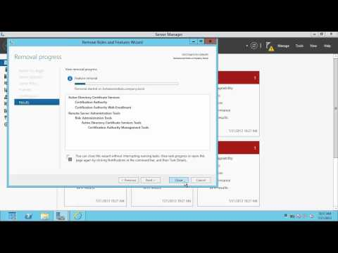 How to remove Active Directory Domain from Windows Server 2012 Essentials