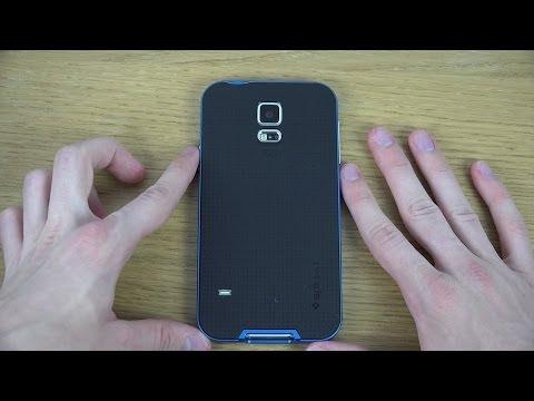 Samsung Galaxy S5 - Spigen Neo Hybrid Electric Blue Case Review (4K)