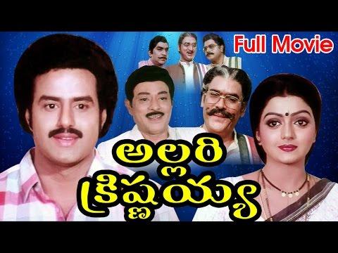 Allari Krishnaiah Full Length Telugu Movie   Nandamuri Balakrishna, Bhanupriya    DVD Rip..
