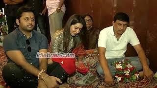 Srinivasa Kalyanam Team Visits Dwaraka Tirumala | idlebrain.com - IDLEBRAINLIVE