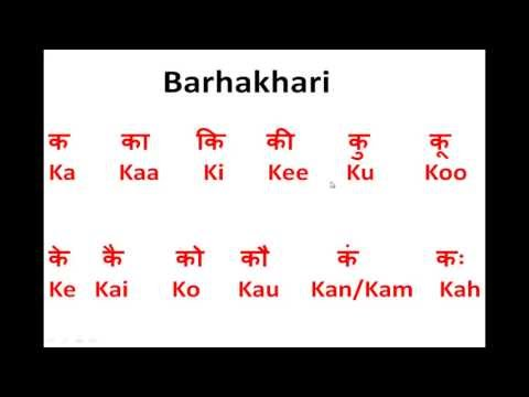 How to Write & Speak Hindi - Sounds - Ka, Kaa, Ki, Kee