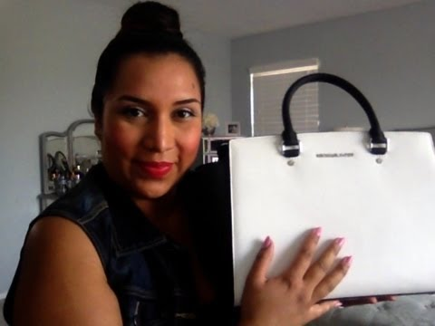 Michael Kors Black And White Selma Handbag Review❤