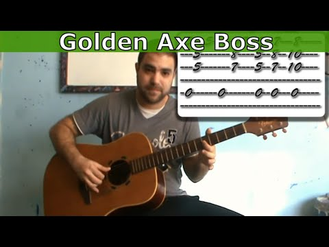 Guitar Tutorial: Golden Axe Boss Theme -- Fingerstyle Arrangement