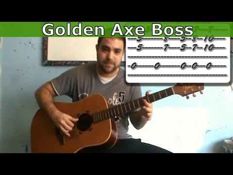 Guitar Tutorial: Golden Axe Boss Theme -- Fingerstyle Arrangement