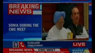 Sonia Gandhi during the CWC meet, says strategic alliance needs to be forced - NEWSXLIVE