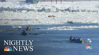 Inside The Wild World Of Ice Canoe Racing At The Quebec Winter Carnival | NBC Nightly News - NBCNEWS