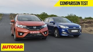 2015 Honda Jazz vs Hyundai Elite i20 | Comparison Test | Autocar India