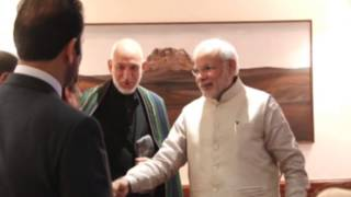 21,Nov 2014 - Former Afghanistan President Karzai meets Modi in New Delhi - ANIINDIAFILE