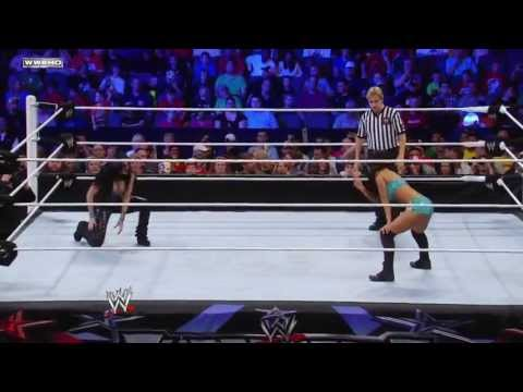 WWE Superstars 02/06/11 Gail Kim vs Melina