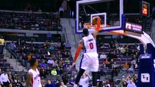 Andre Drummond Throws Down Big One Hand Dunk
