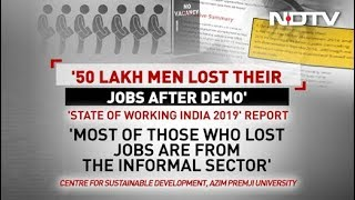 50 Lakh Lost Jobs Over 2 Years, Trend Began Just After Notes Ban: Report - NDTV
